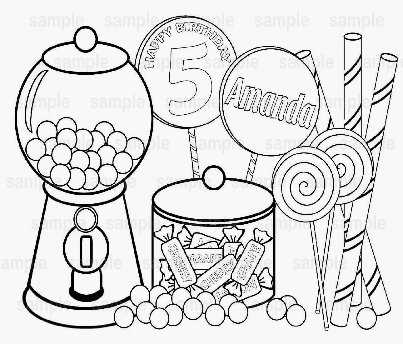 Free Coloring Pages Of Candy House