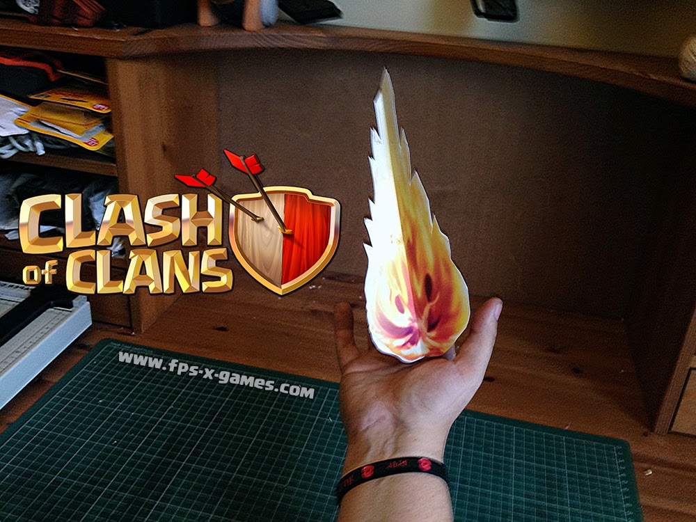 Printable Clash of Clans Wizards fireball tutorial