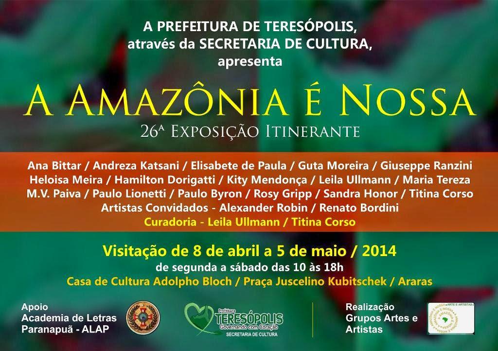 Exposição A Amazônia é Nossa em Teresópolis
