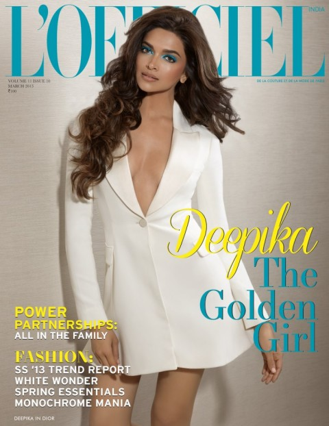 Deepkia Padukonde on the front Page of LOfficiel Magazine