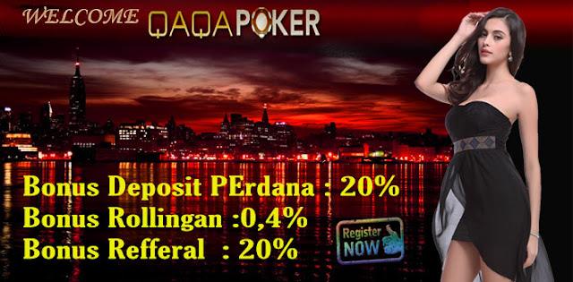 Gambar Qaqapoker.com Agen Judi Poker Online Indonesia Domino Terpercaya