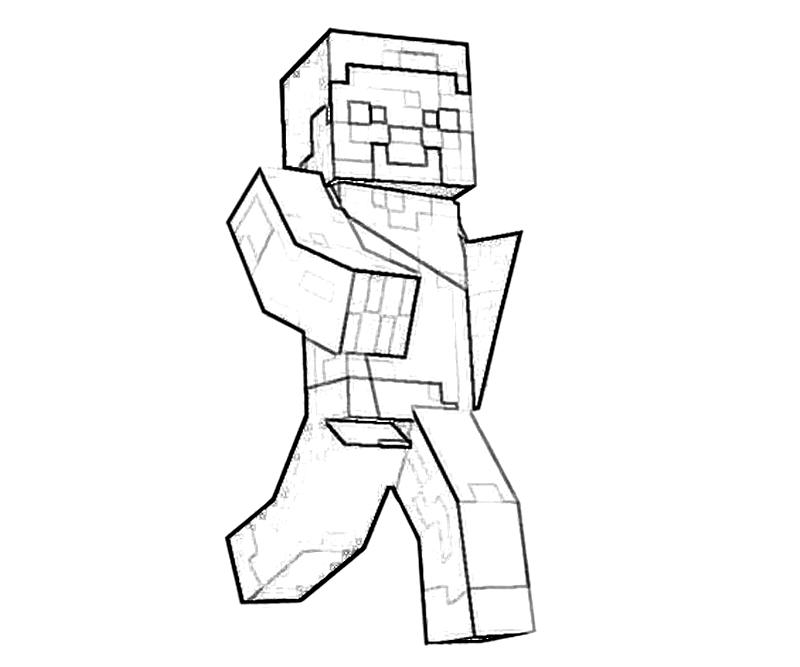 free minecraft zombie coloring pages - photo#22