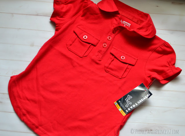 Girls 2 Pocket Polo Top