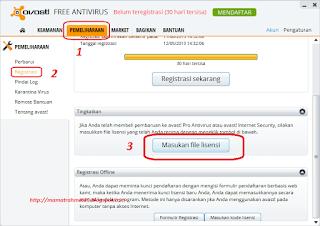 Cara Register Avast Free Menjadi Pro