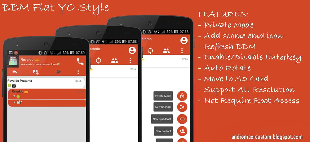 BBM MIUI Flat Style Version 2.6.0.30 Ipedia