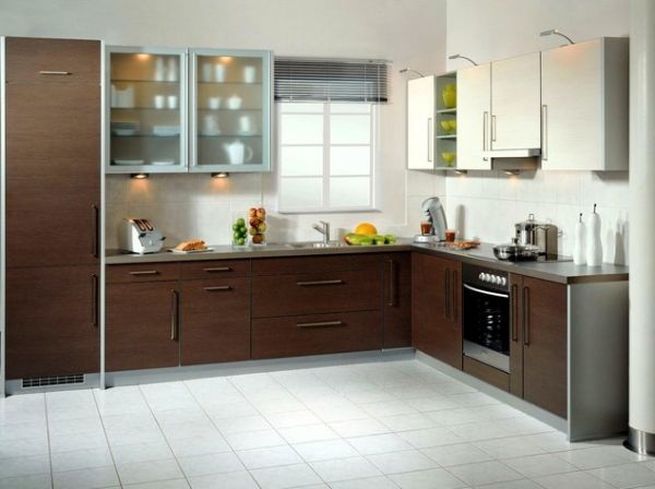 Modern kitchen designs custom kitchen cabinets for U shaped bathroom design