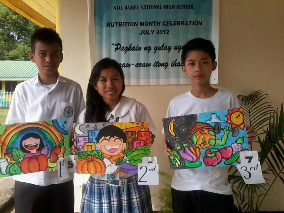 Nutrition Month Poster Making http://erikaguia.blogspot.com/2012/08/stoangel-nhs-poster-making-contest.html