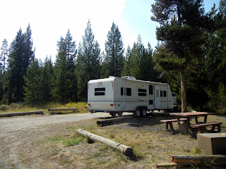 Free dry camping off of Grassy Lake Road while visiting Yellowstone National Park and Grand Teton National Park