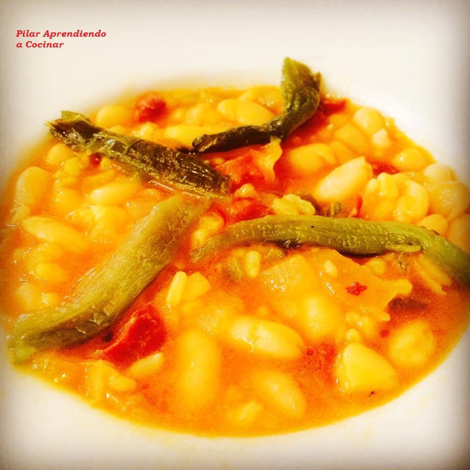Aprendiendo a cocinar guiso express de judias con arroz y for Cocinar alcachofas de bote