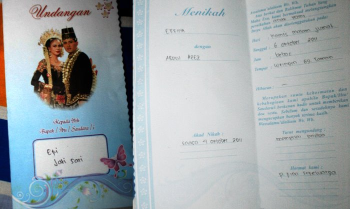 Ira In The Psycholand Undangan Pernikahan Sederhana