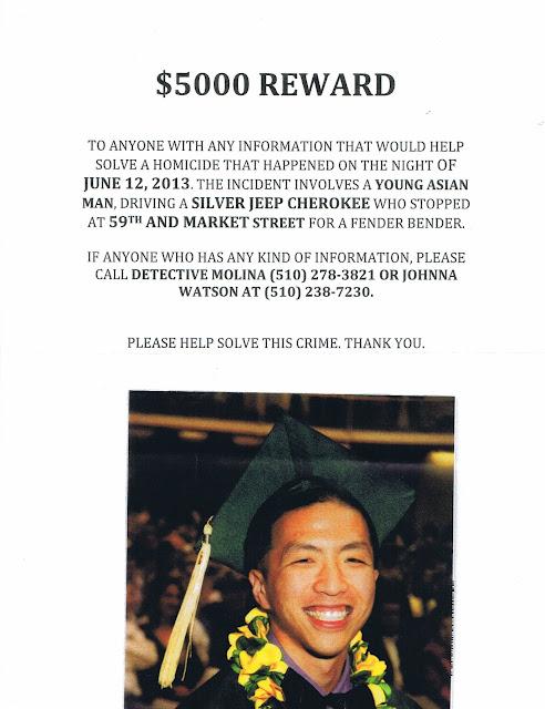flyer regarding murder in Oakland