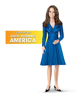 Kate Middleton Porcelain Doll - Kate Middleton engagement doll