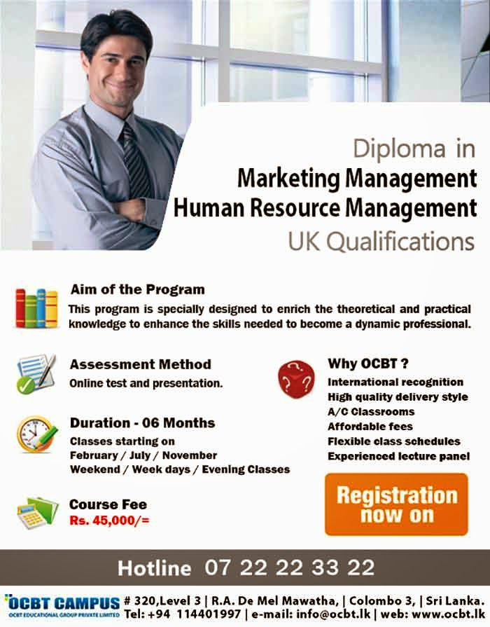 The base place for your education for Diploma in Marketing Management and Human Resource (HR) Management towards UK qualifications.