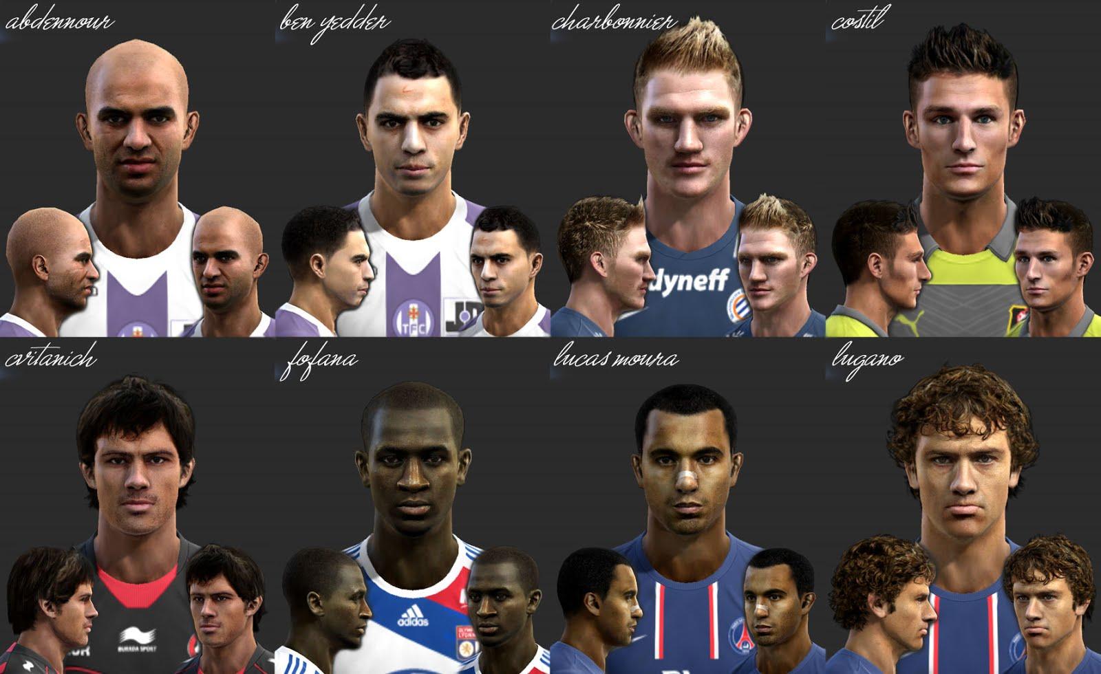 Download Facepack Ligue 1 by El Yorugua PES 2013