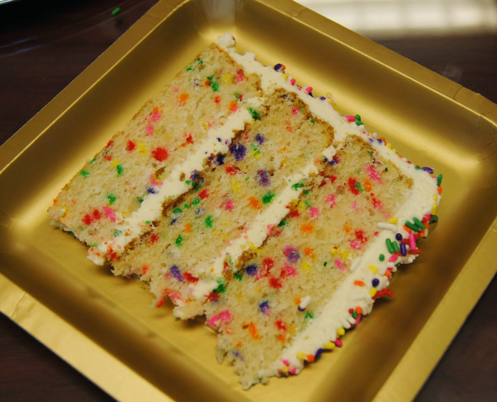 This Cake Is So Much Fun Especially After You Cut It And See Sprinkles Inside The As Well Even Though Rainbow Generally Dont Taste All