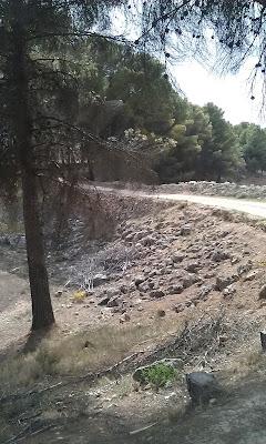 Azud sagrado en la sierra de Armantes en el término municipal de Calatayud