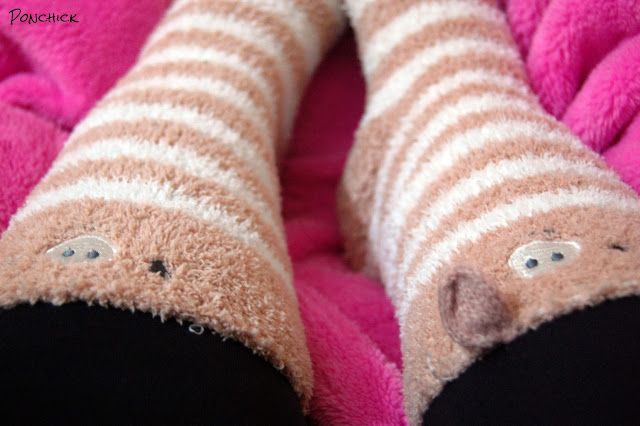 oysho piggy socks