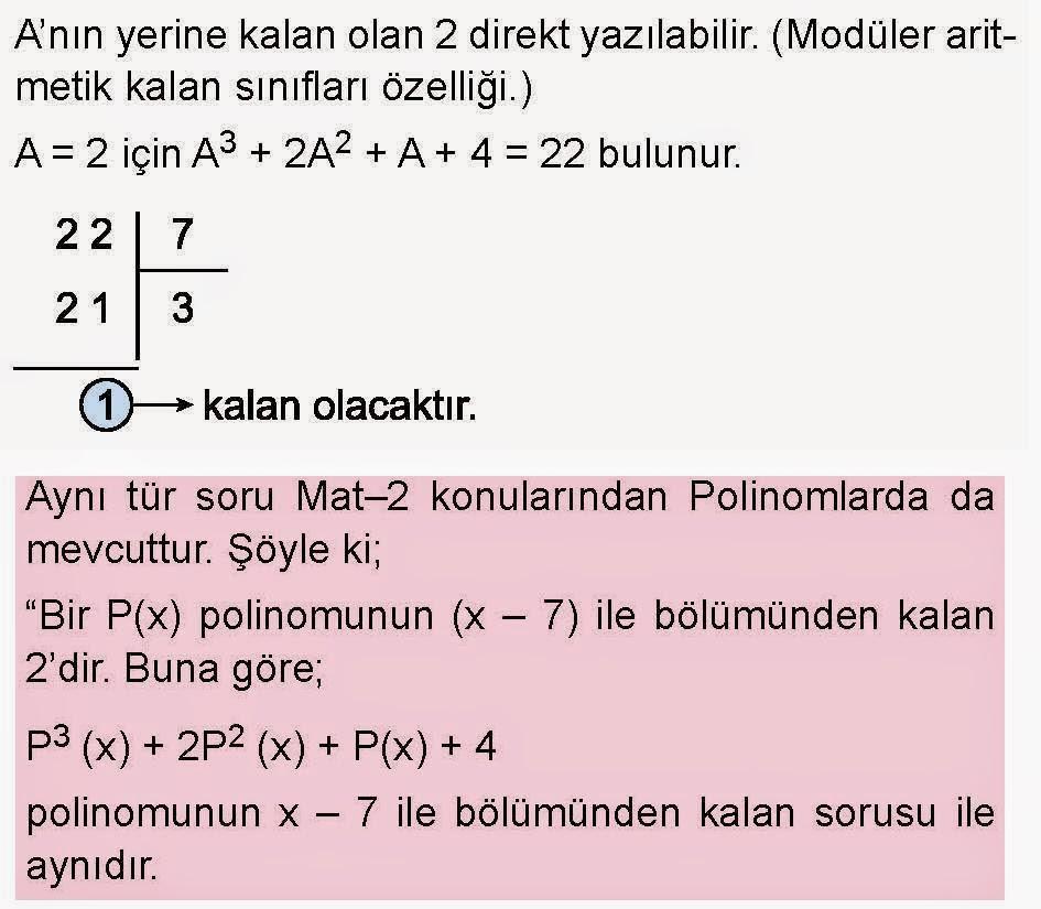 Matematik özel Ders Hizmeti Ve Matematik Dünyası Ygs Pratikleri
