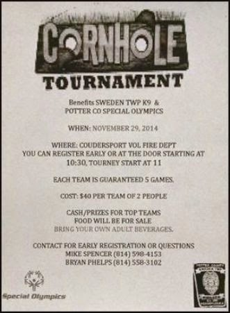 11-29 Cornhole Tournament At CVFD