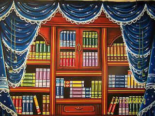 Download Contoh Background Wisuda Rak Buku Dan Lemari