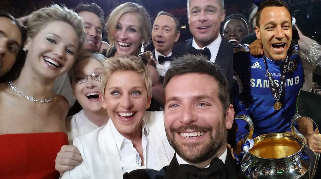 John Terry photobombs Ellen DeGeneres' selfie at the Oscars!