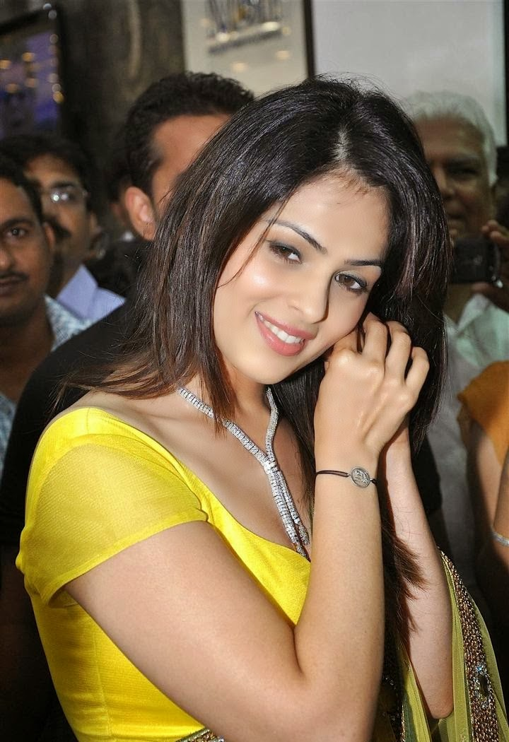 Anjana Sukhani Boob Showing in Yellow Saree