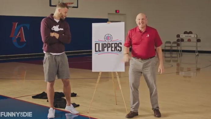 Steve Ballmer and Blake Griffin Reveal New Clippers Logo in a Funny Video