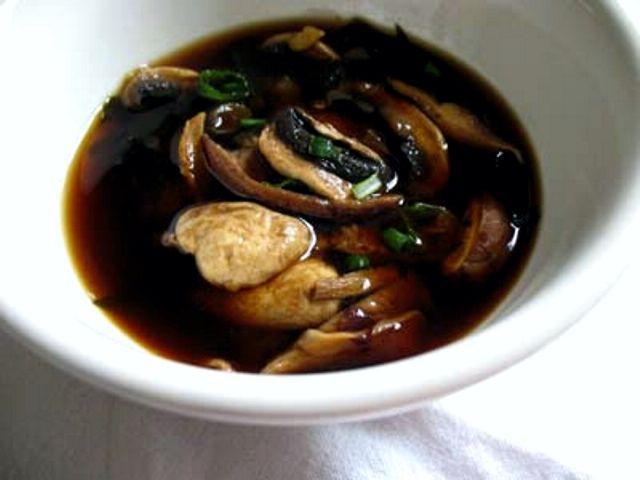 Mushroom, Miso and Seaweed Soup