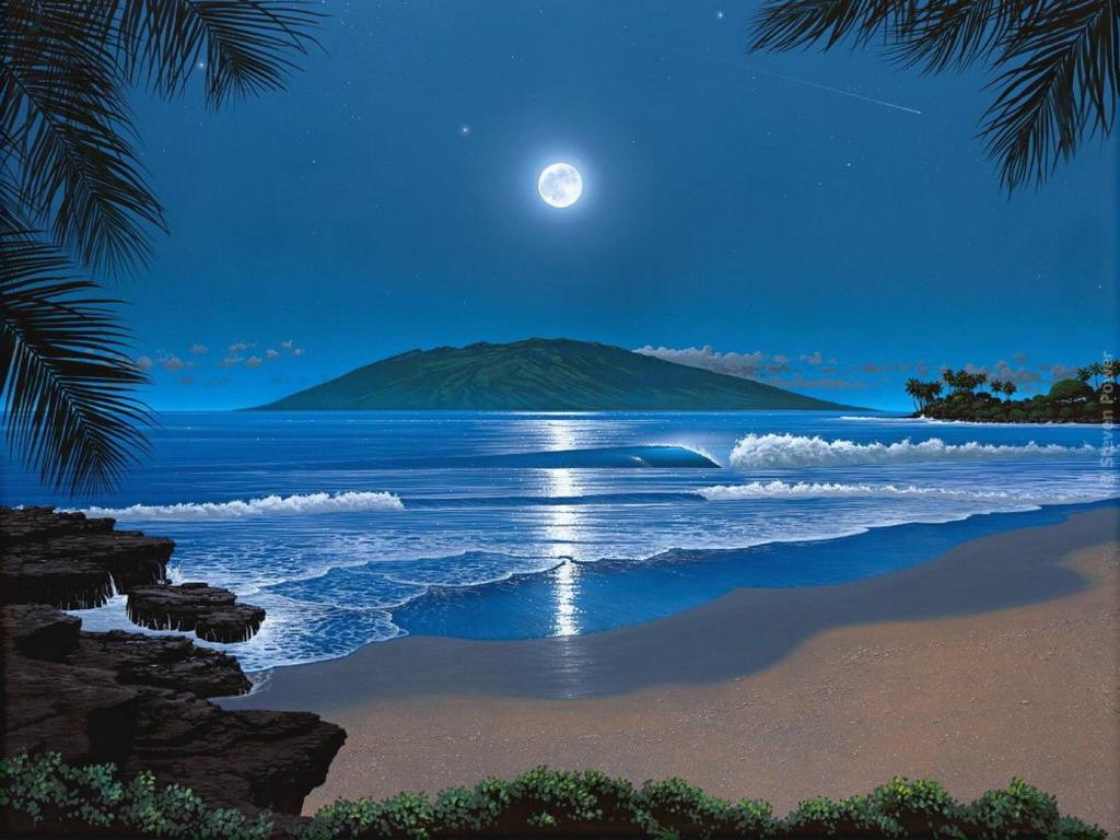 Морской пейзаж море и берег