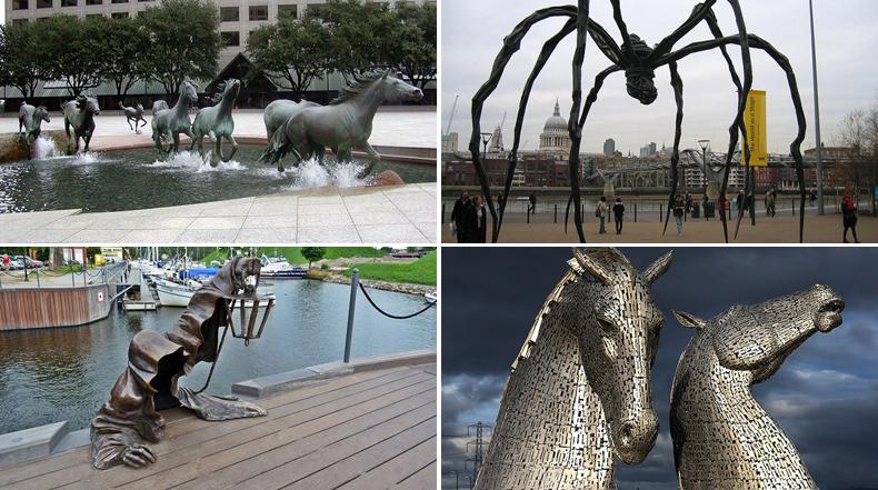25 de las más creativas esculturas y estatuas de todo el mundo
