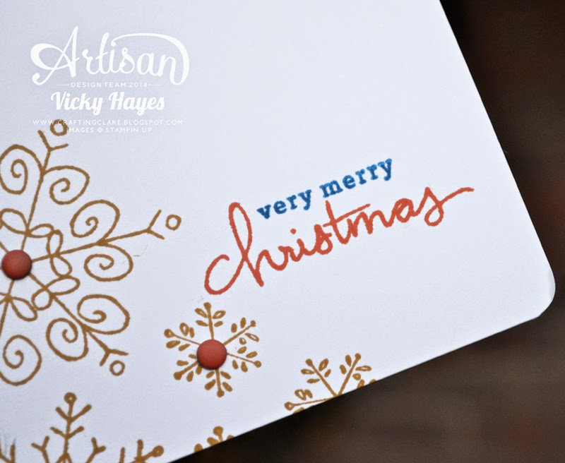Endless Wishes by Stampin' Up, stamped in non-traditional Christmas colours