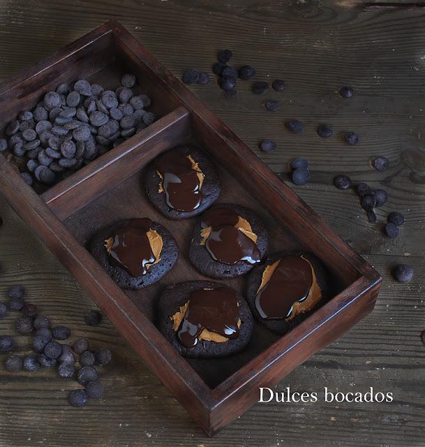 Galletas brownie de chocolate y crema de Speculoos - Dulces bocados