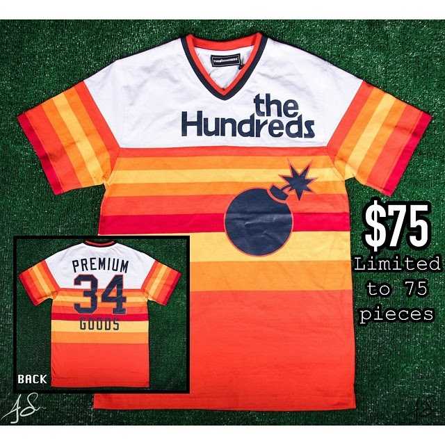 "The Hundreds x Premium Goods 10th Anniversary Houston ""34"" Collection - Nolan Ryan Houston Astros Baseball Pullover Jersey"