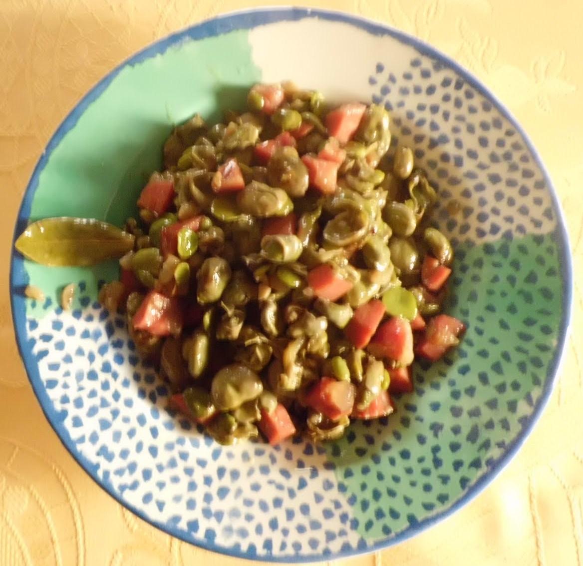 La cocina de la tia encarna habas con jam n - Habas tiernas con jamon ...