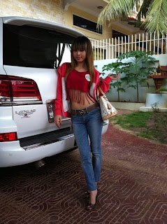 Votey Teav Khmer Girl Sexy Shirt and Hot Jean 13