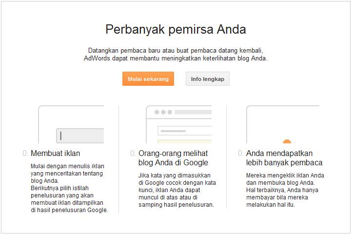 Mengenal Kampanye di halaman Dasbor Blogger