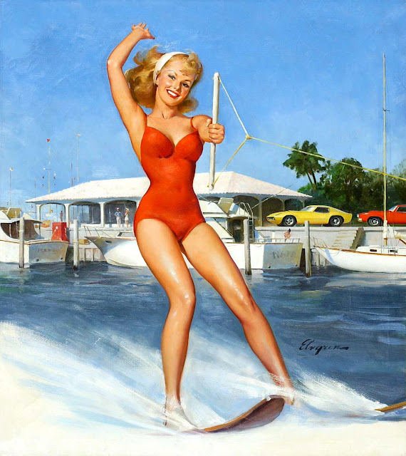 pin up water skiing
