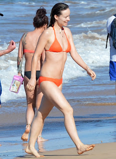 Olivia Wilde in a tiny Bikini while on vacation in Hawaii