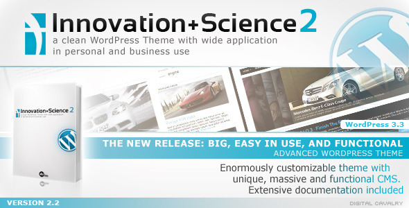 Innovation+Science 2 - Magazine WordPress Theme Free Download by ThemeForest.