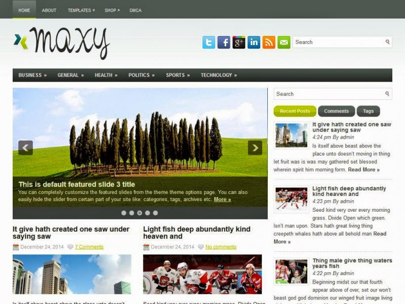Maxy - Free Wordpress Theme