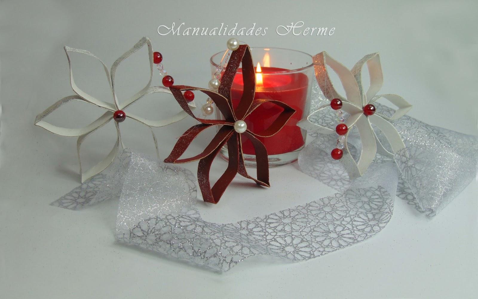 Manualidades herme hacer adorno navide o reciclaje estrella for Como hacer adornos para navidad