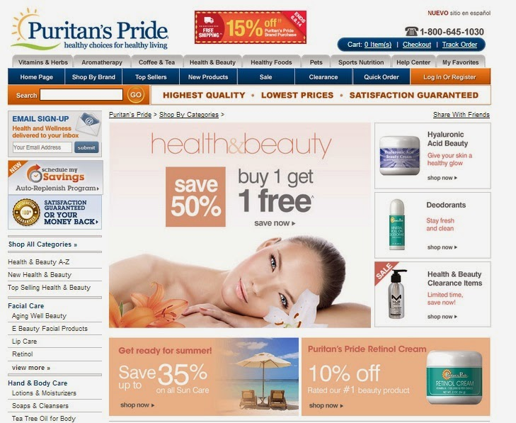 Active Puritans Pride Coupons