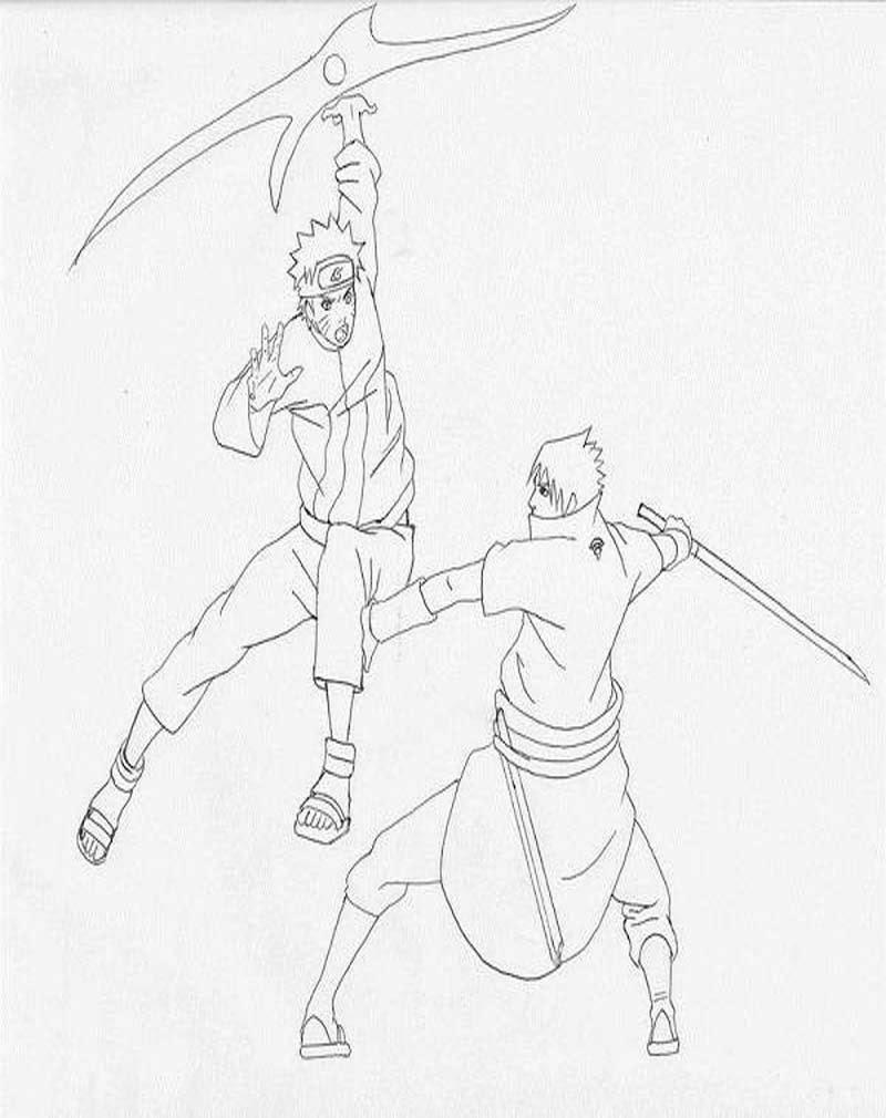 Mewarnai Gambar Naruto
