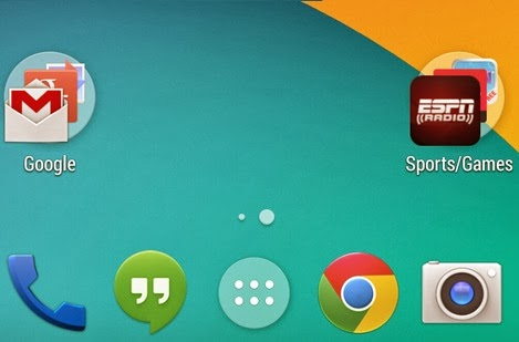 How to drag and drop apps to android folder