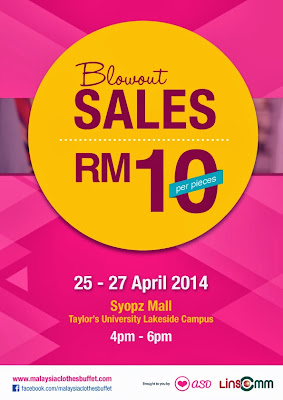 Malaysia's Largest Clothes Buffet 2014 Blow Out Sales poster