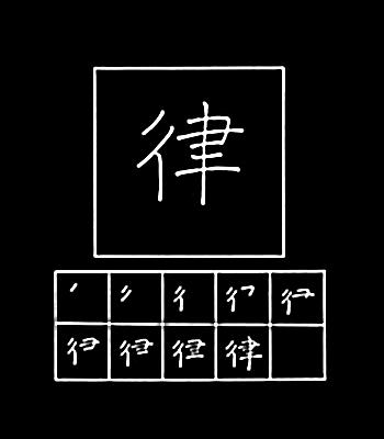 kanji hukum, irama