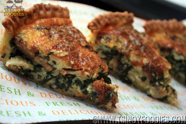 spinach and bacon provolone quiche