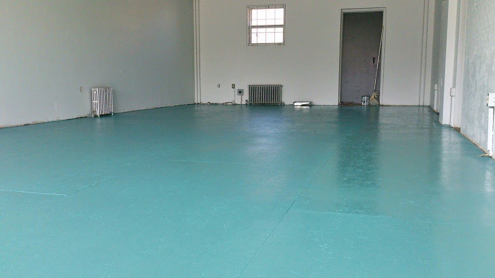 diy painted particle board floor mmmm teal dans le lakehouse - Paint For Wooden Floor