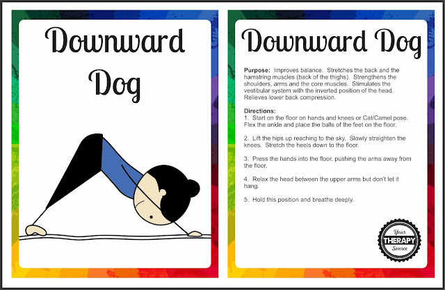 This is an image of Breathtaking Yoga Cards Printable