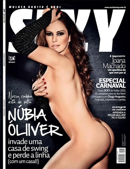 Confira as fotos da modelos, Núbia Óliver, capa da Sexy de fevereiro 2011!